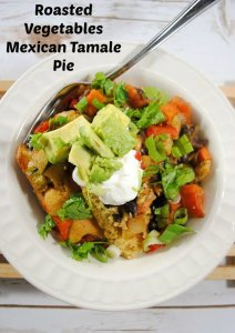 Roasted Vegetable Mexican Tamale Pie