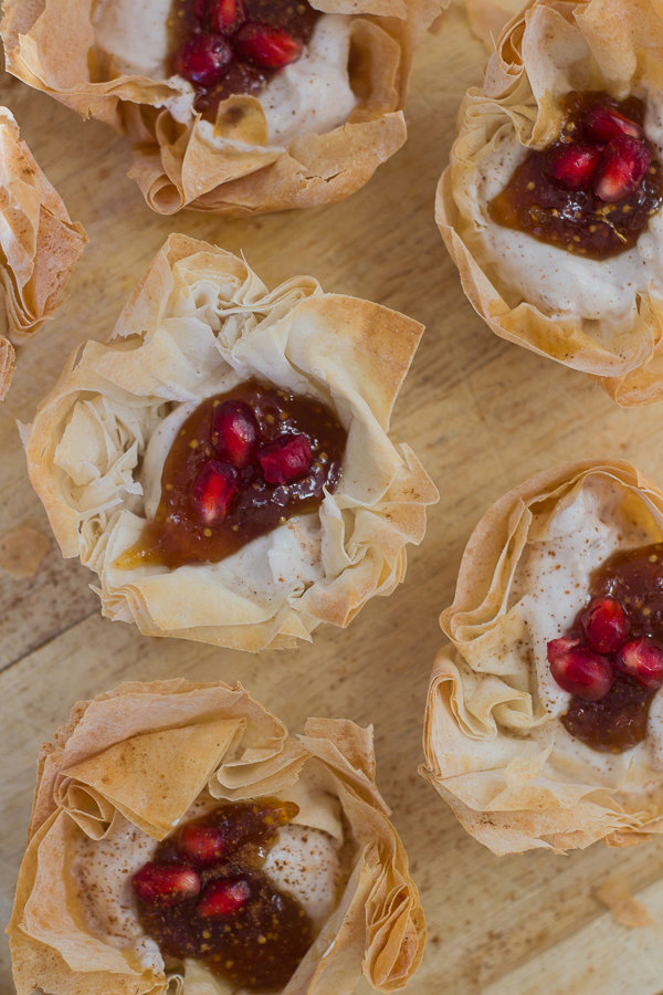 Phyllo Shells with Honey-Cinnamon Goat Cheese and Fig Spread