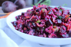 Roasted Beet Quinoa Salad with Carrots !
