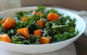 Kale Salad with Roasted Butternut Squash!