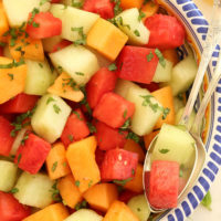 Summer Mint Melon Salad