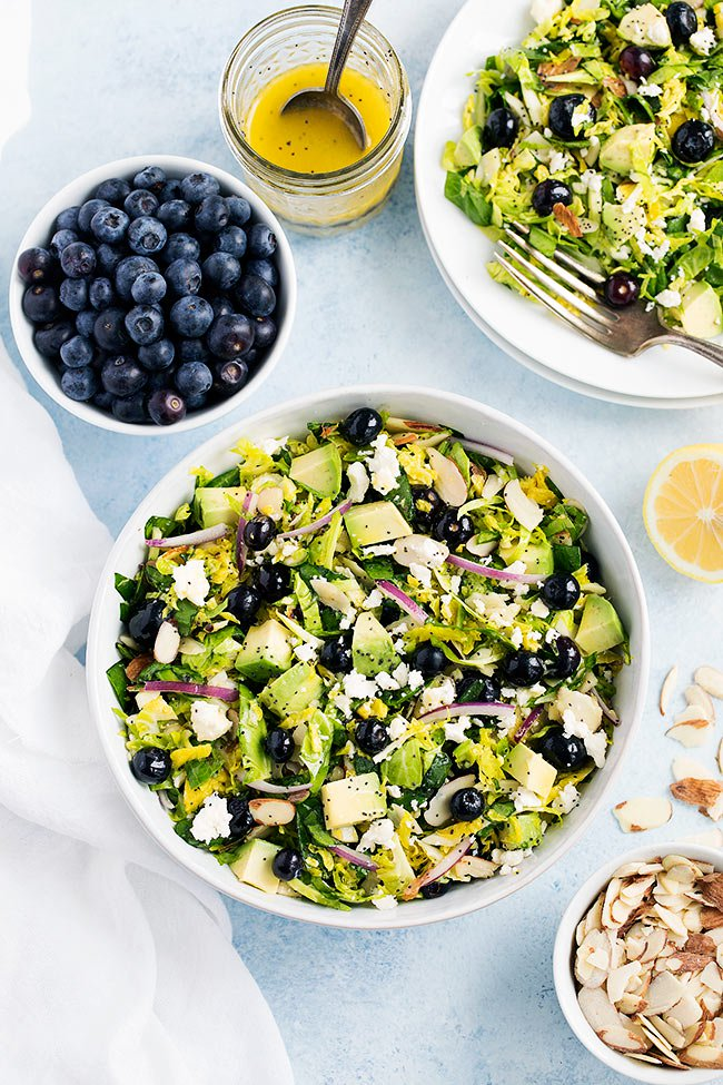 Blueberry Brussels Sprouts Salad