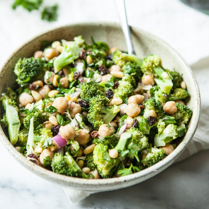 Crunchy Broccoli and Chickpea Salad