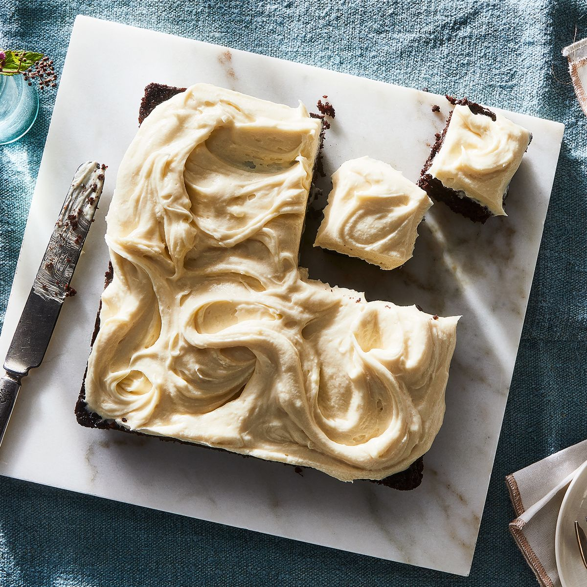 Chocolate-Carrot Snacking Cake With Cream Cheese Frosting