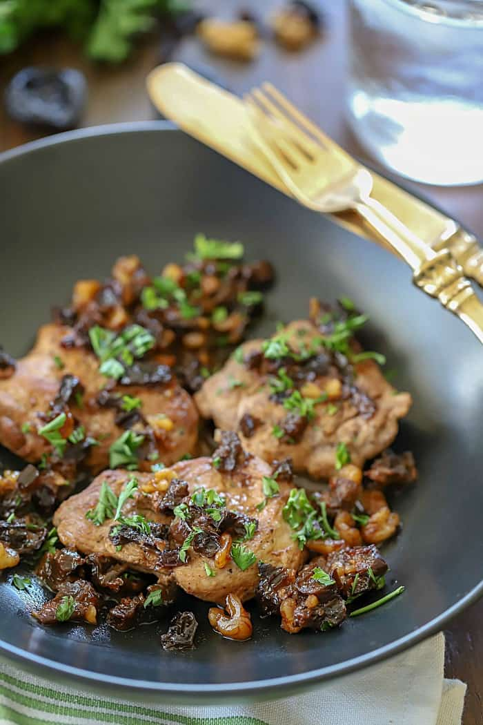 Pork Medallions with Prunes and Walnuts