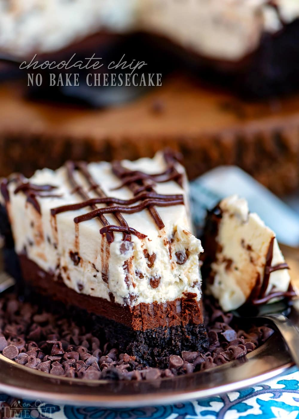 Chocolate Chip No Bake Cheesecake