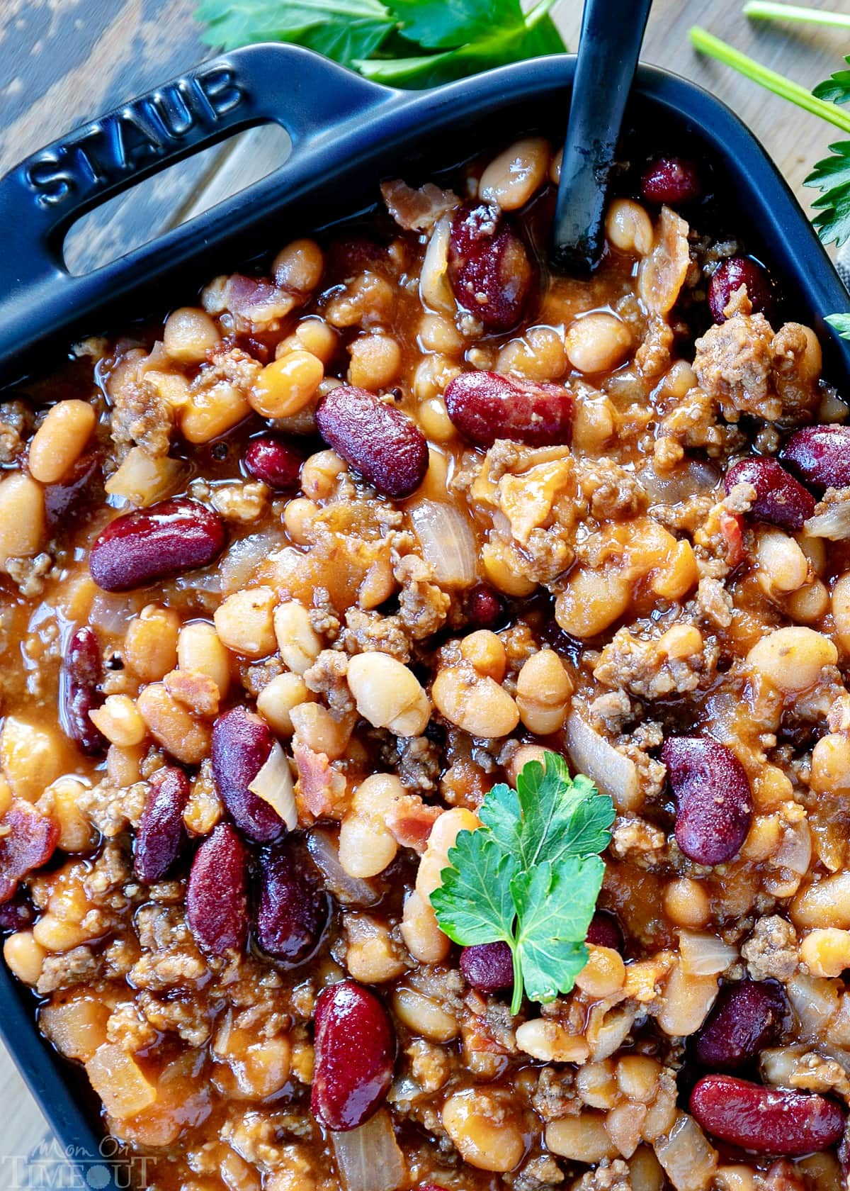 The BEST Slow Cooker Cowboy Beans