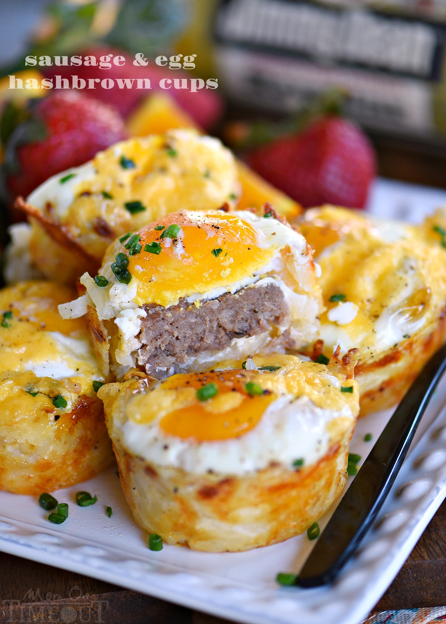 Sausage and Egg Hash Brown Cups