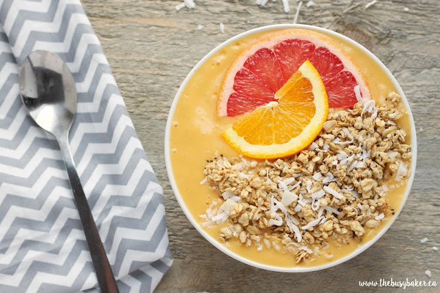 Mango Citrus Smoothie Bowl Recipe