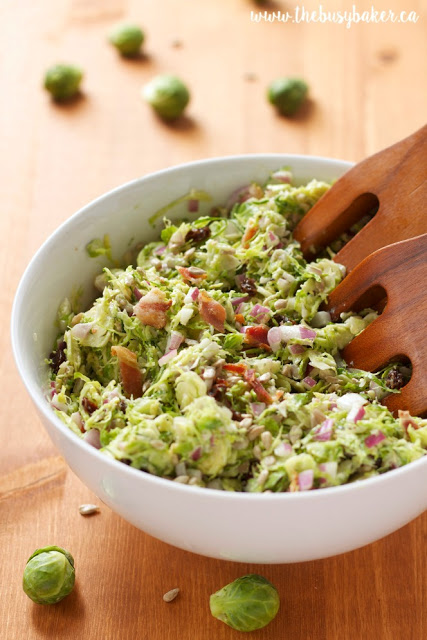 Brussels Sprouts Salad with Creamy Bacon Dressing