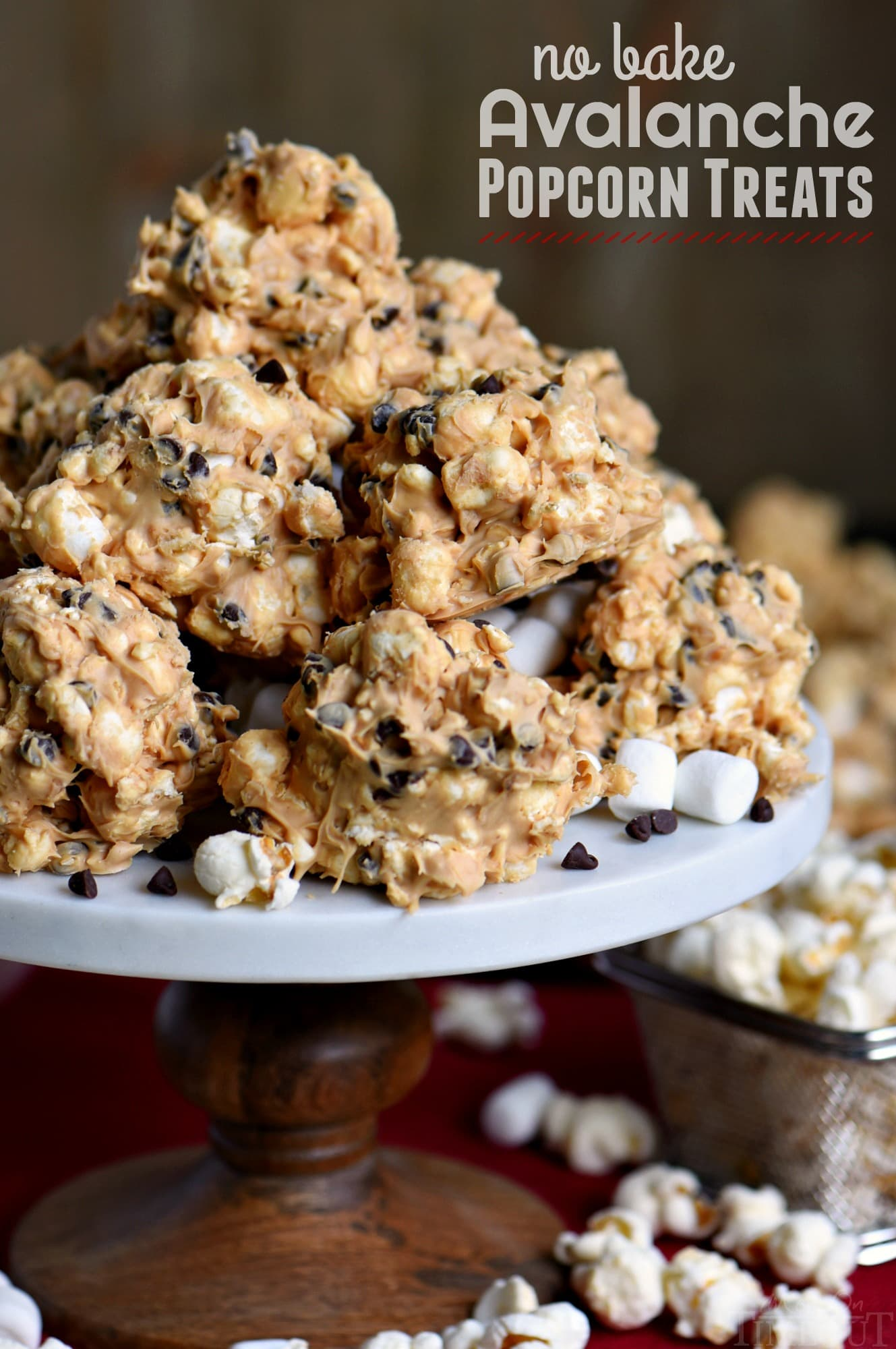 No Bake Avalanche Popcorn Treats