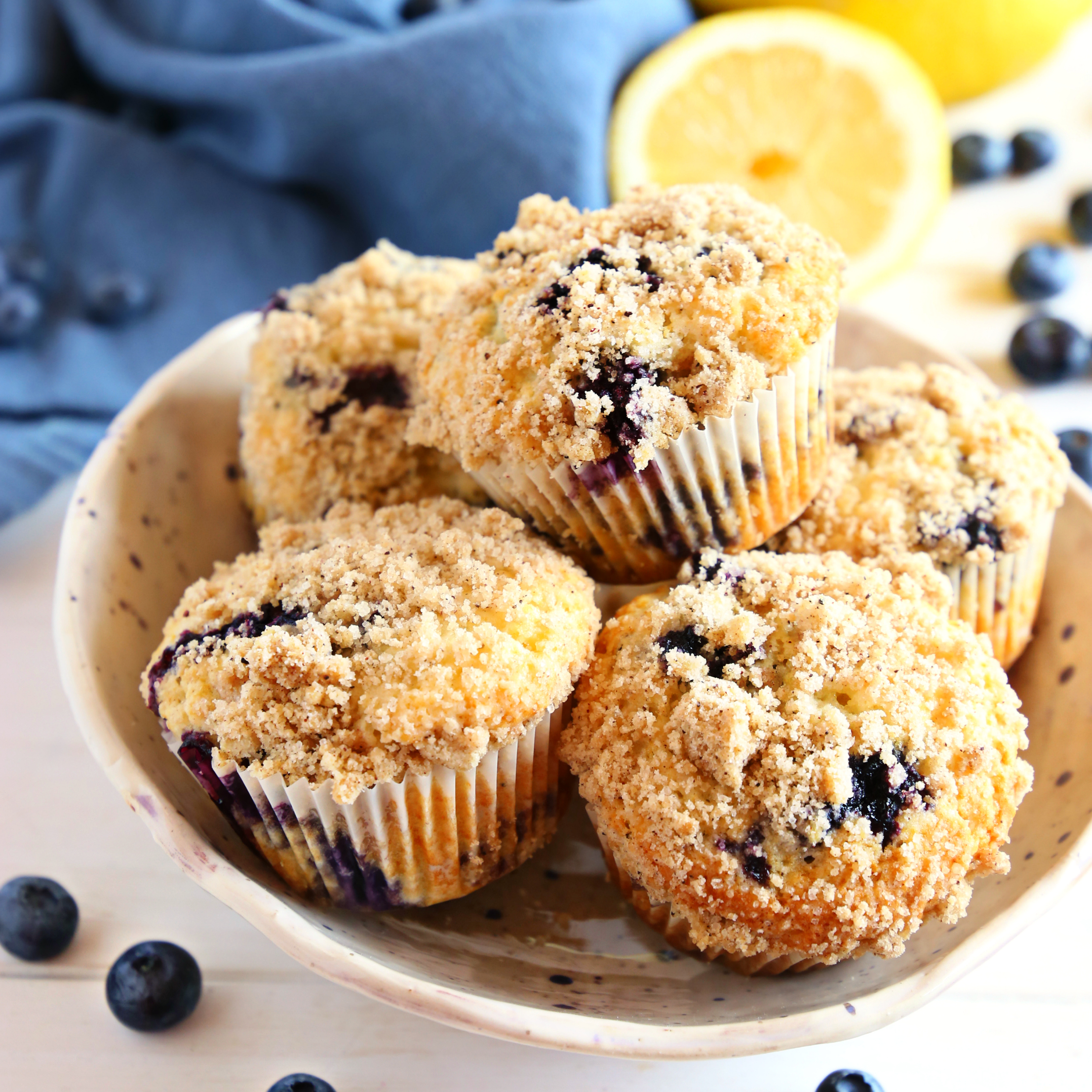 Best Ever Blueberry Streusel Muffins
