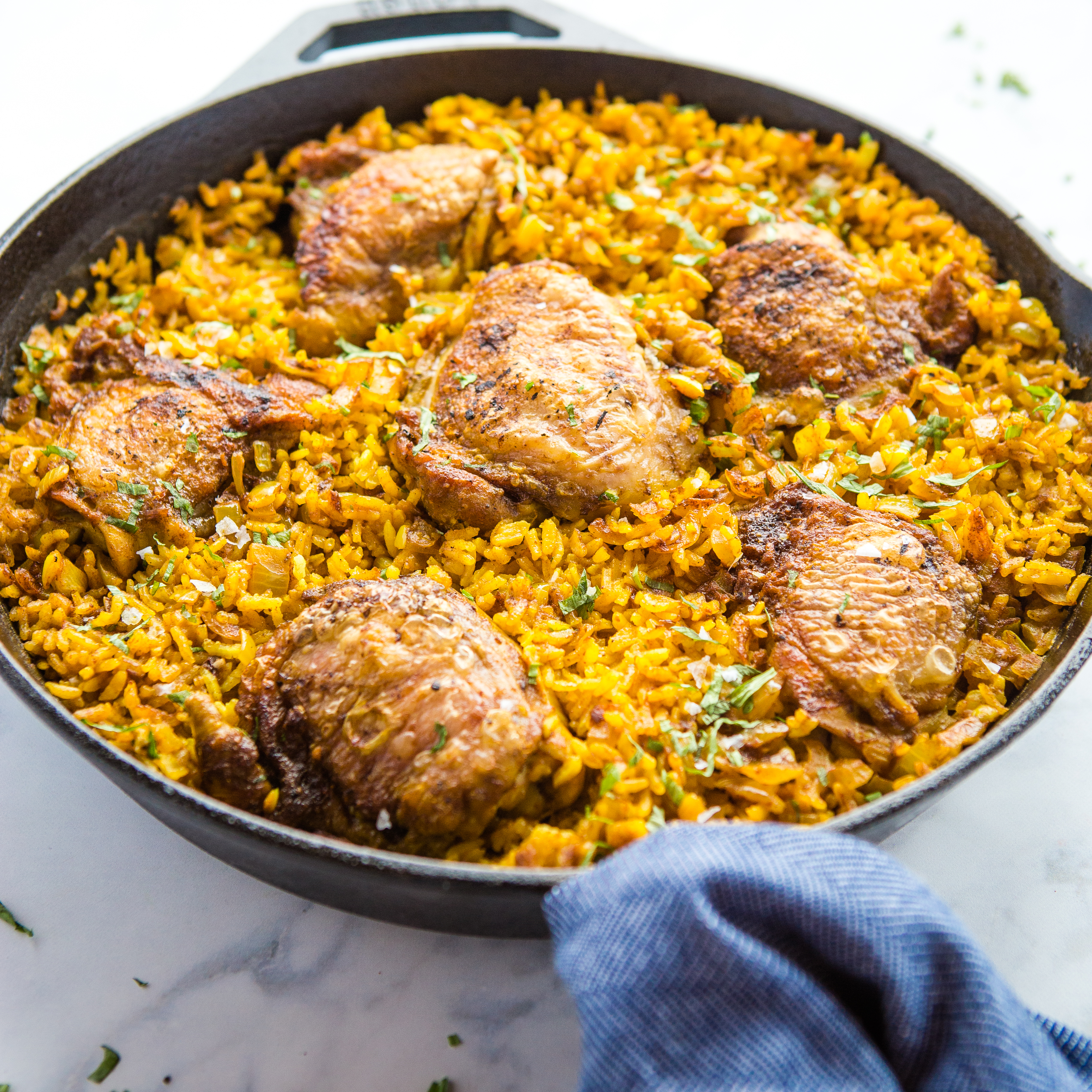 Easy One Pan Chicken with Turmeric Rice