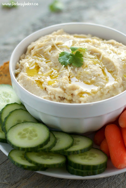 Garlic Parmesan White Bean Hummus