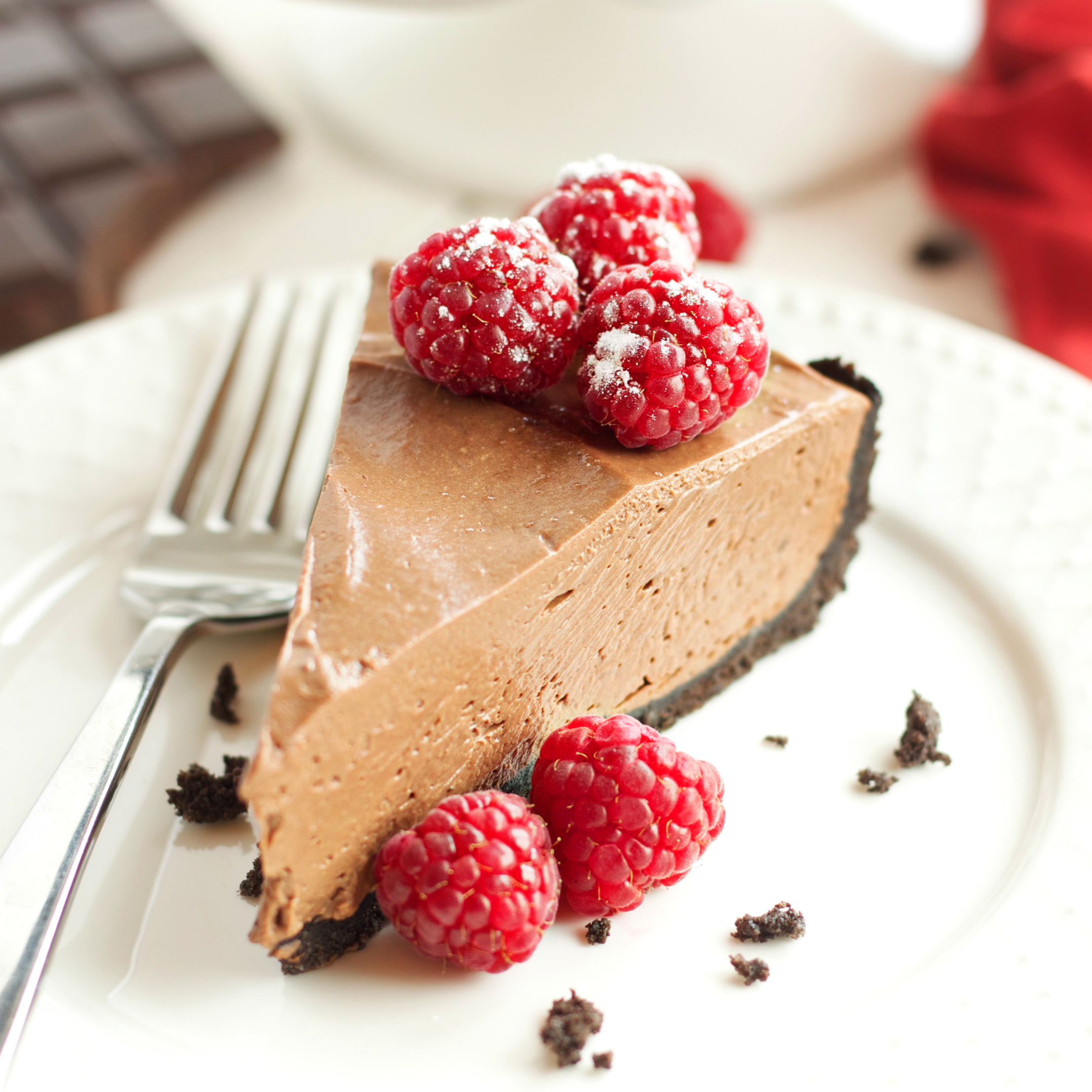 No Bake Chocolate Mousse Cheesecake (Vegan and Dairy Free)