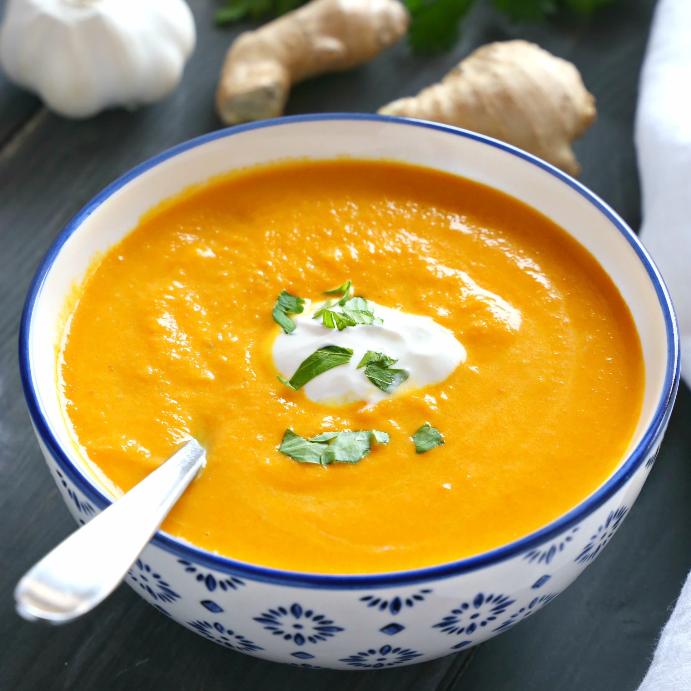 Best Ever Creamy Carrot Ginger Soup