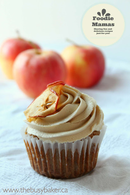 Apple Caramel Cupcakes with Caramel Buttercream Frosting