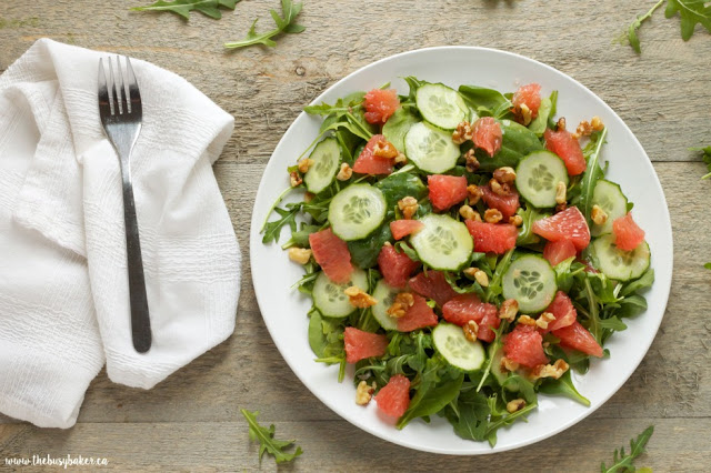 Grapefruit and Arugula Salad with Honey-Lemon Vinaigrette