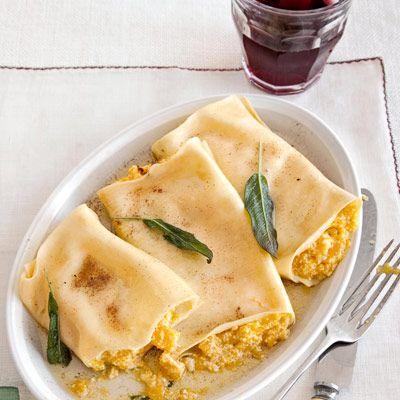 Pumpkin Cannelloni with Sage Brown-Butter Sauce