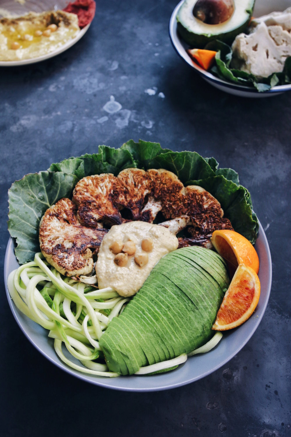 Roasted Cauliflower Buddha Bowl With Cinnamon and Cumin