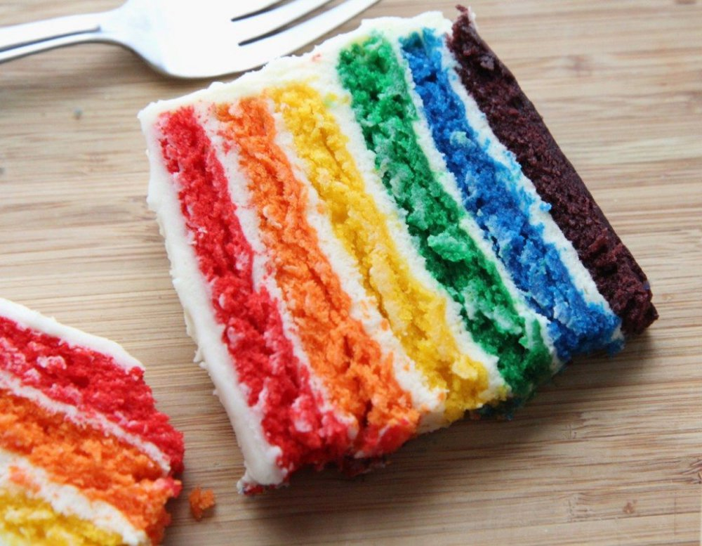 Easy Rainbow Cake...From Scratch!