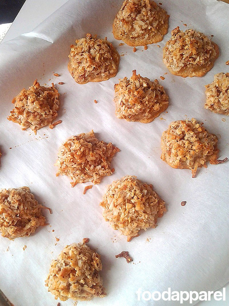 Chocolate Dipped Almond Macaroons