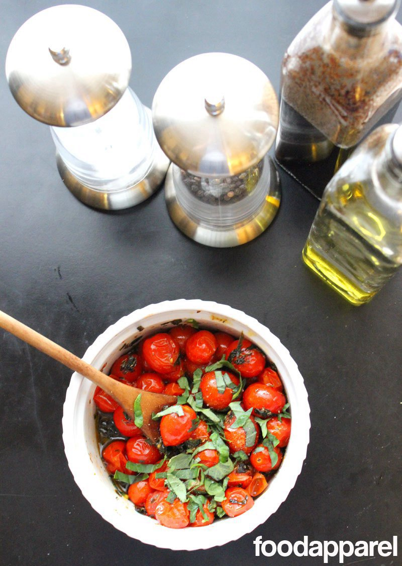 Roasted Grape Tomato Salad with Herbs
