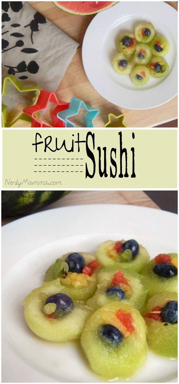 Fruit Sushi {making lunch fun for kids series}