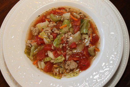 Cabbage Roll Soup with Turkey