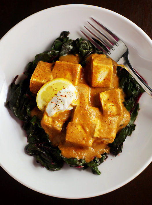 Curry tofu over swiss chard indian curry tofu over swiss chard forumfinder Gallery