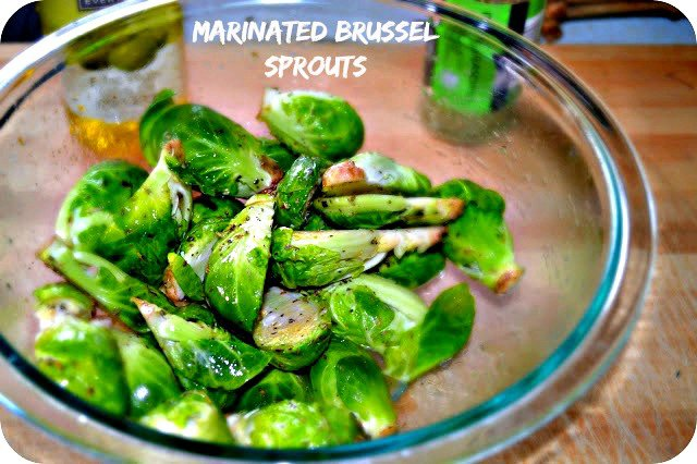Marinated Brussel Sprouts on the Grill