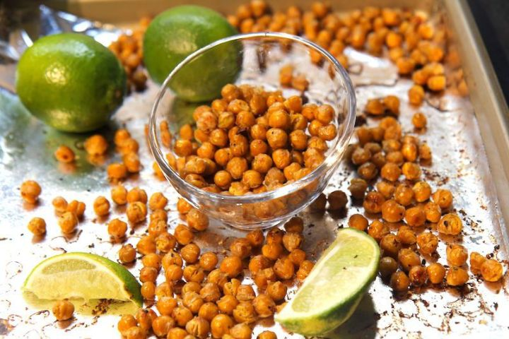Coconut Lime Roasted Chickpeas - Vegan and Gluten-Free!