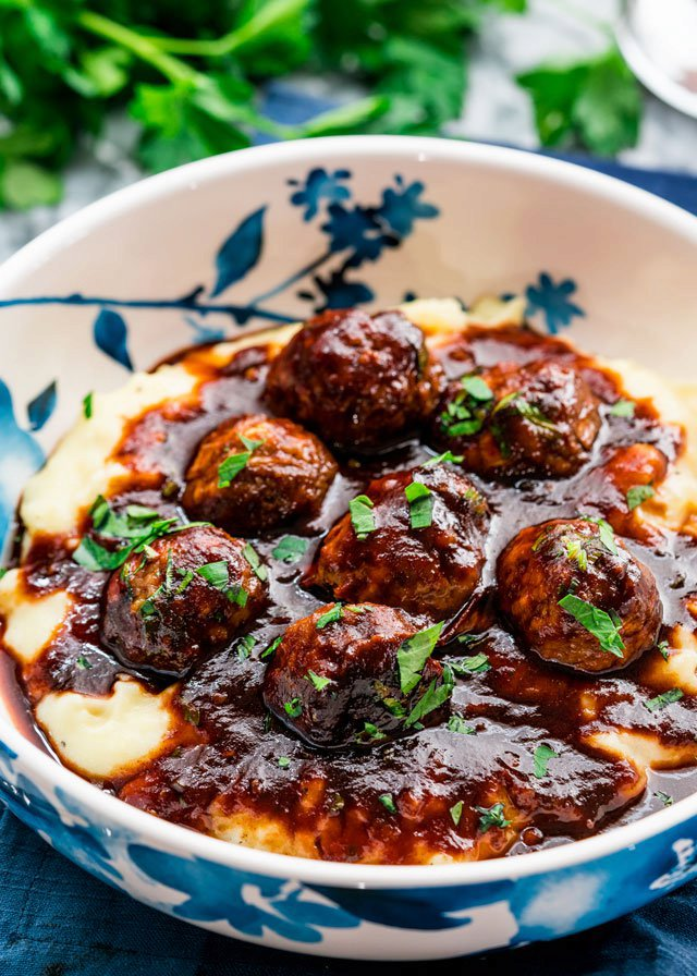 Stout Meatballs with BBQ Sauce