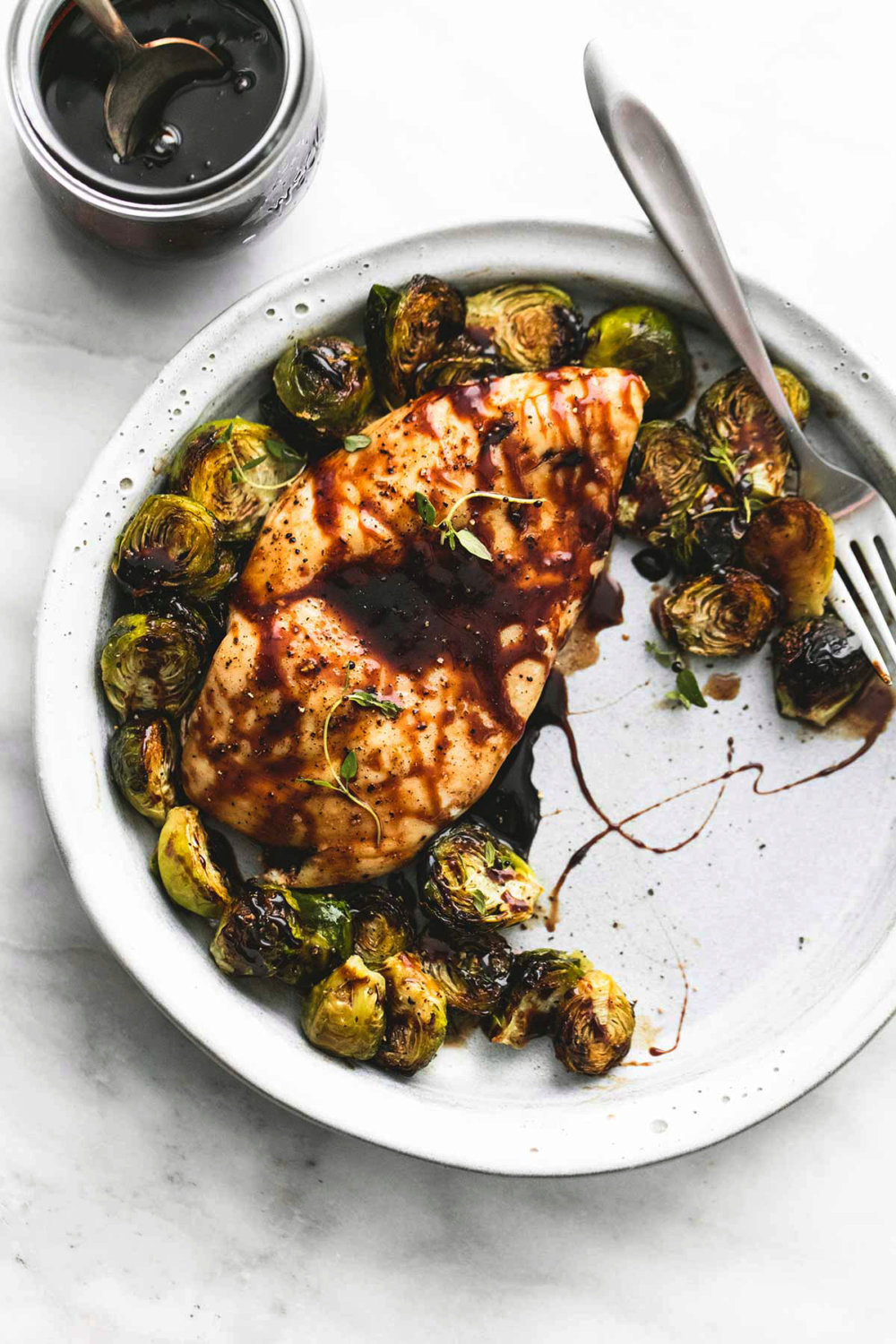 Sheet Pan Honey Balsamic Chicken & Brussels Sprouts