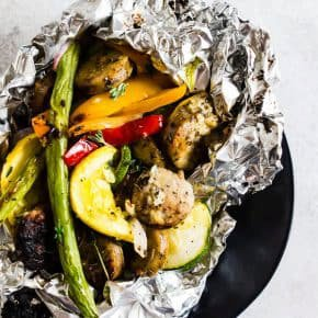 Chicken Sausage and Vegetable Foil Packet Dinner