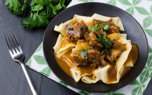 Barbecued Oxtails with Buttered Pasta