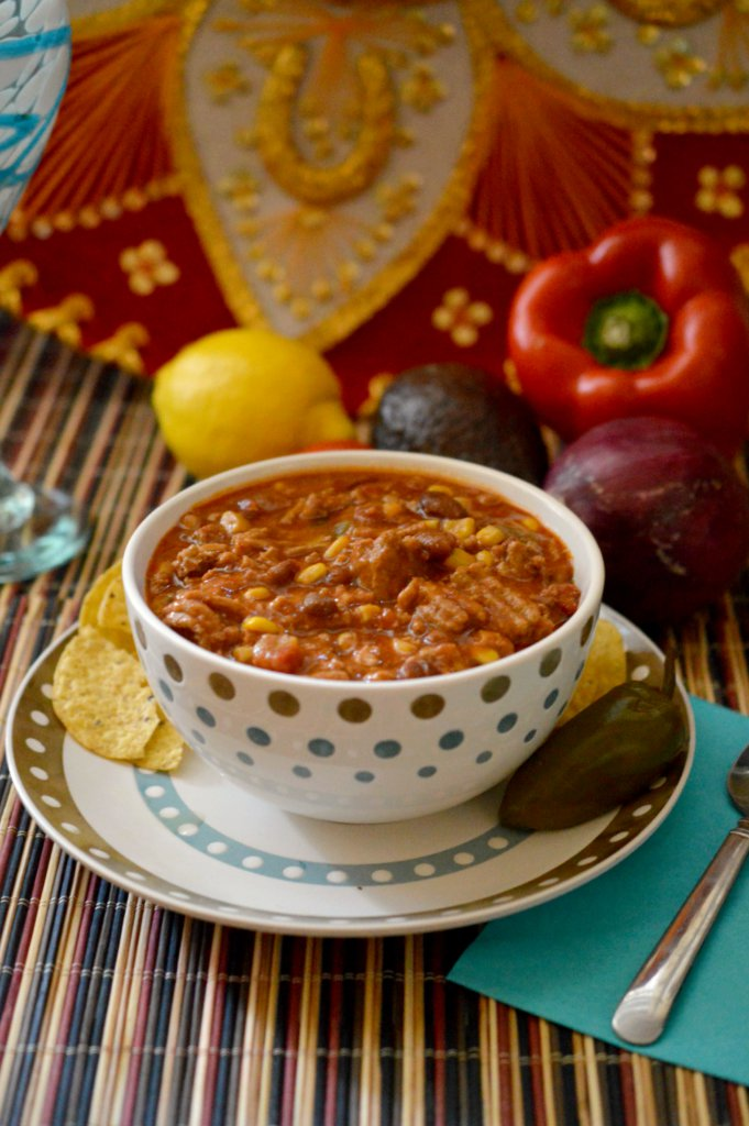Slow Cooker Fiesta Turkey Chili Recipe