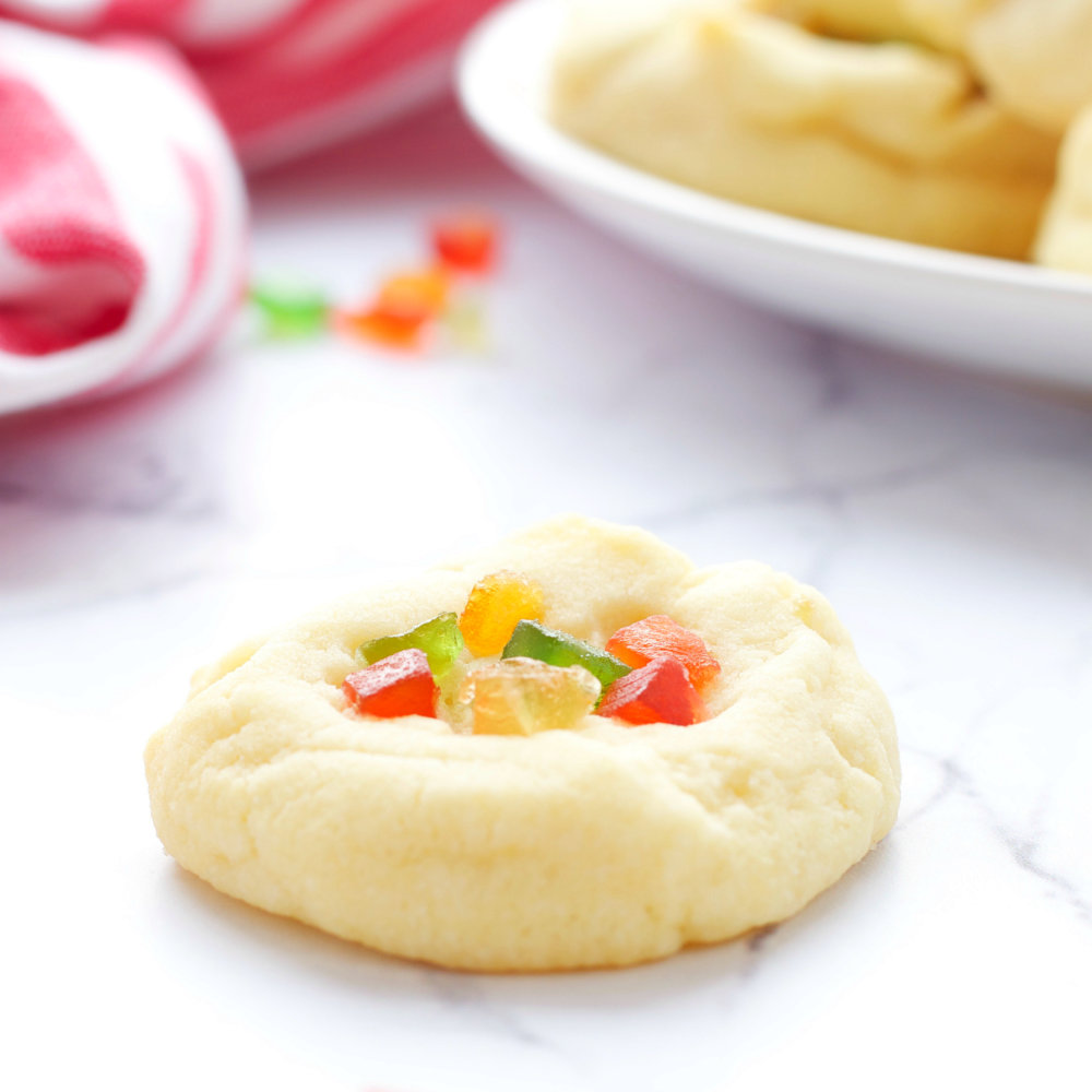 Whipped Shortbread Holiday Cookies