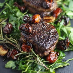 Filet Mignon with Balsamic Tomatoes