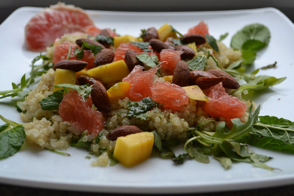 Mango Quinoa Salad with Mint Vinaigrette