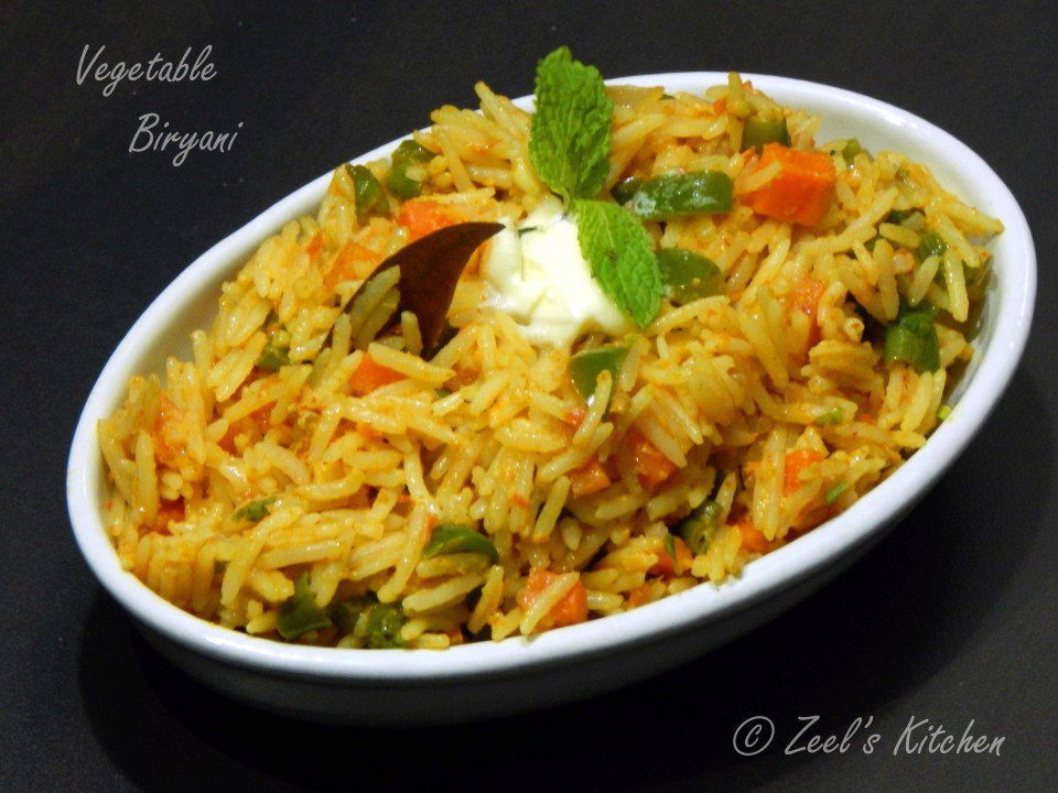 Vegetable Biryani ( Veg Biryani )