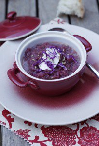 Borscht of Red Cabbage