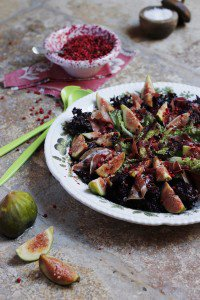 Green Fig & Parma Ham Salad with Balsamic Red Peppercorns