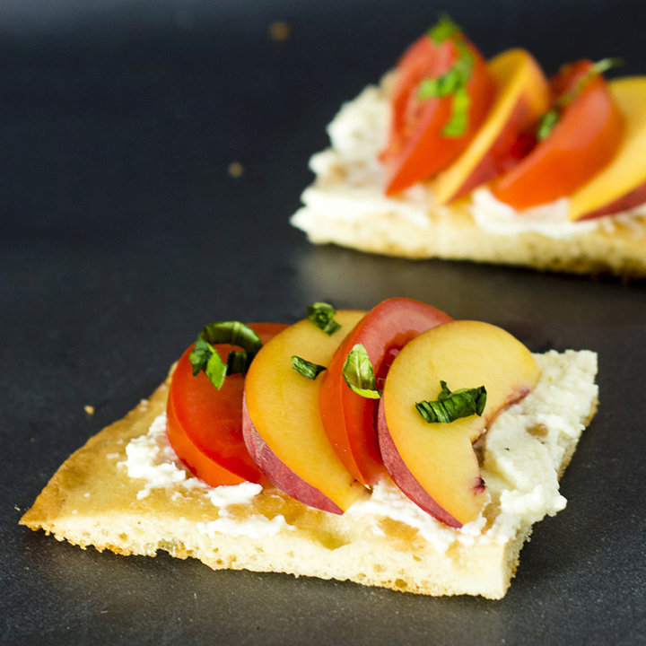 Tomato-Peach Flatbread