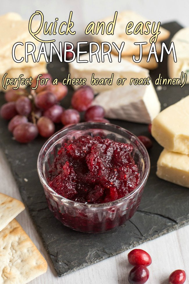 Quick and easy cranberry jam