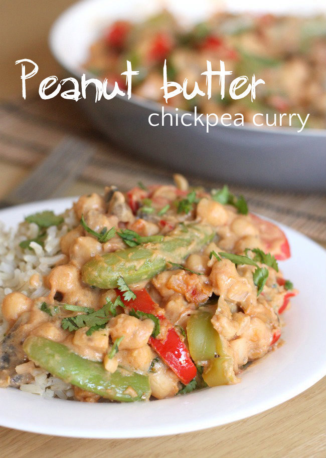 Peanut butter chickpea curry