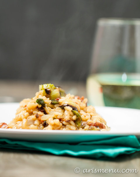 Bacon Brussels Sprouts Risotto