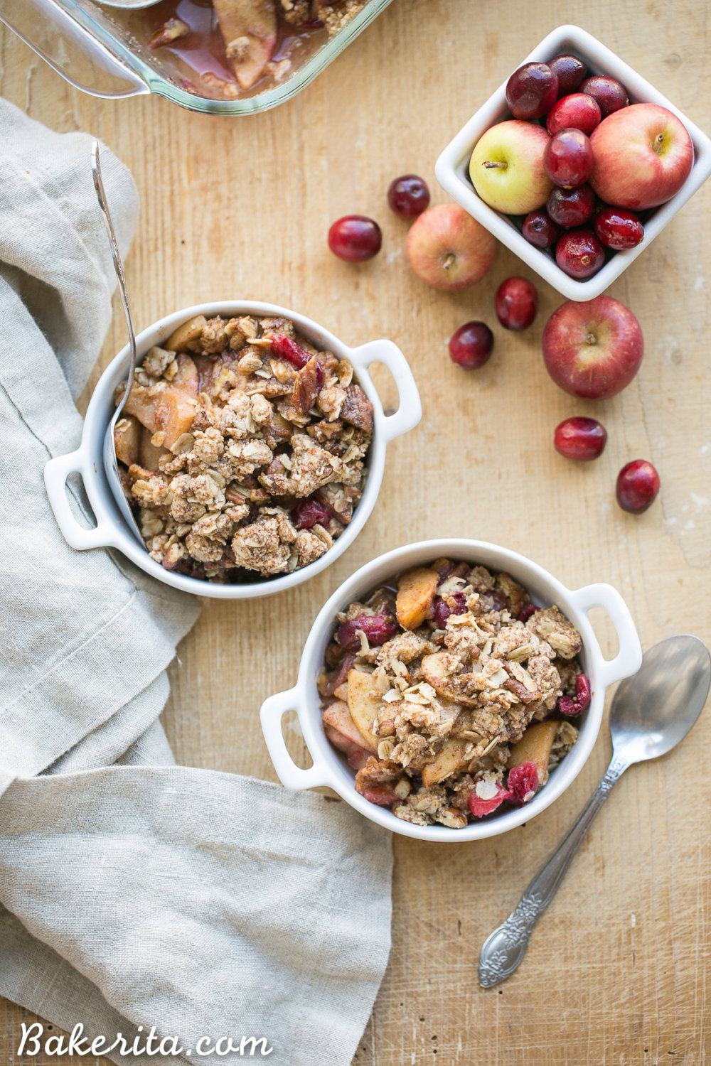 Cranberry Apple Crisp (Gluten Free + Vegan)