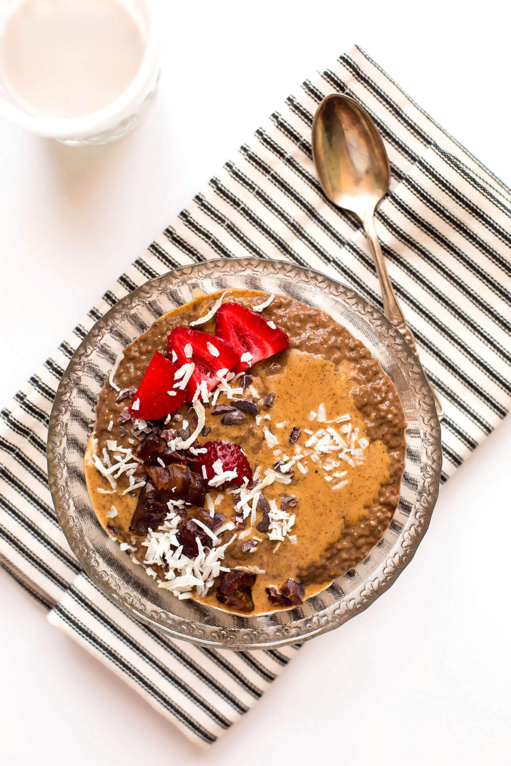Secretly Green Almond Butter Chocolate Chia Pudding