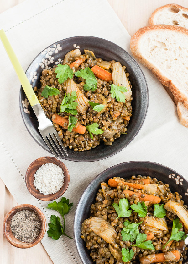 Braised Lentils and Vegetables